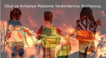 Sardos'tan yangın bölgesindeki çocuklar için kırtasiye kampanyası