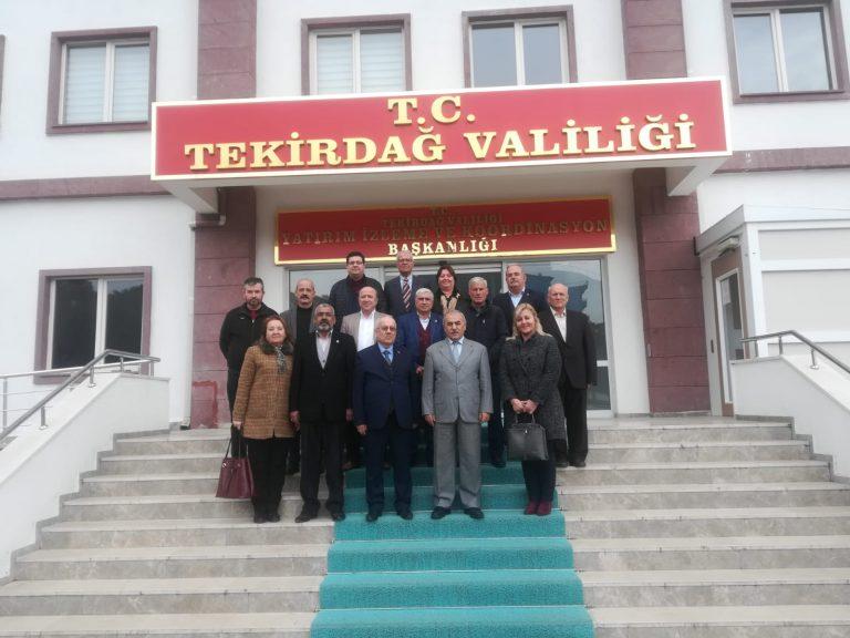 Keşanlı Mahalle Muhtarlarından Ahmet Narinoğlu'na ziyaret