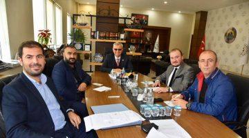 Kulüp başkanlarından Mustafa Helvacıoğlu'na ziyaret