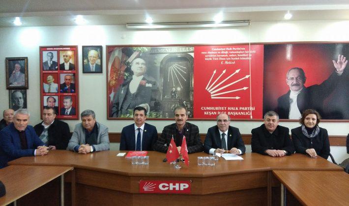 CHP'li Milletvekilleri Keşan'da Gündemi Değerlendirdi.