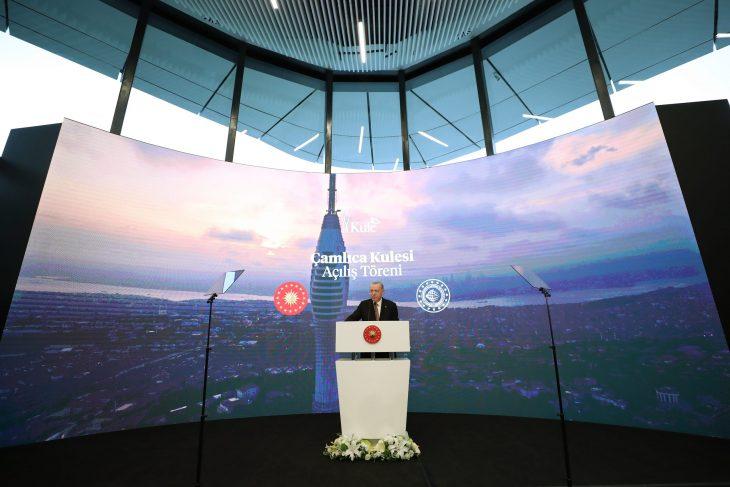 Cumhurbaşkanı Erdoğan, Çamlıca Kulesi Açılış Töreni'ne katıldı