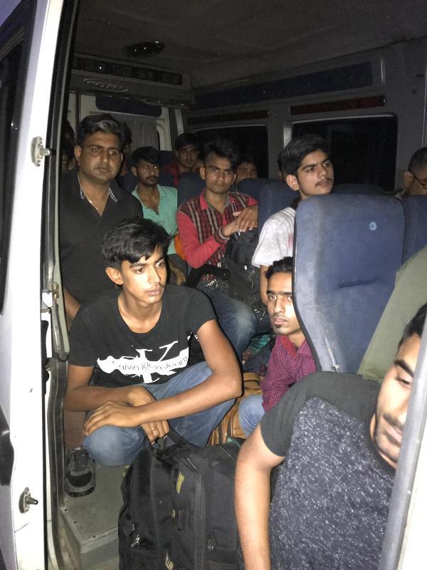 İpsala'da 18 kaçak göçmen yakalandı