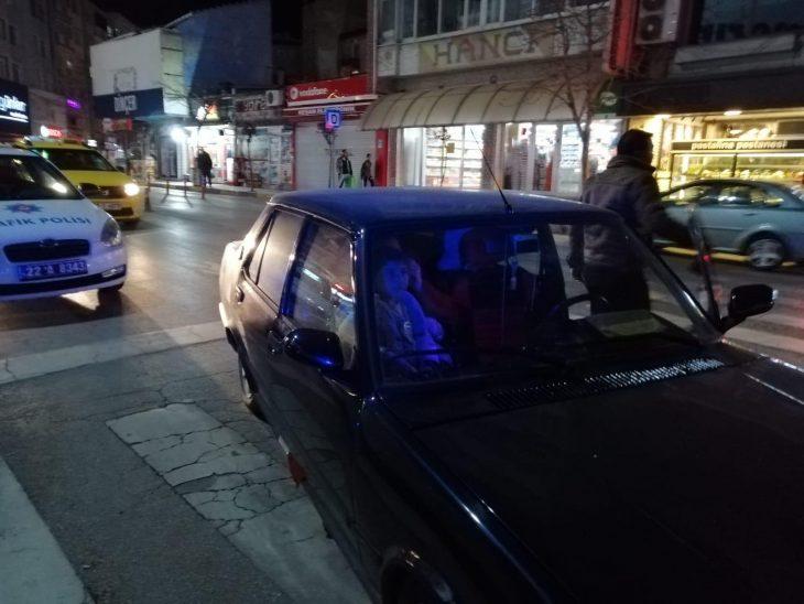 Keşan'da iki sürücüye 2 bin 200 lira ceza uygulandı (Videolu)