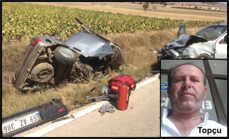 Enez'de feci kaza: 2 kişi hayatını kaybederken 2 kişi yaralandı