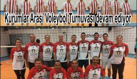 Kurumlar Arası Voleybol Turnuvası devam ediyor