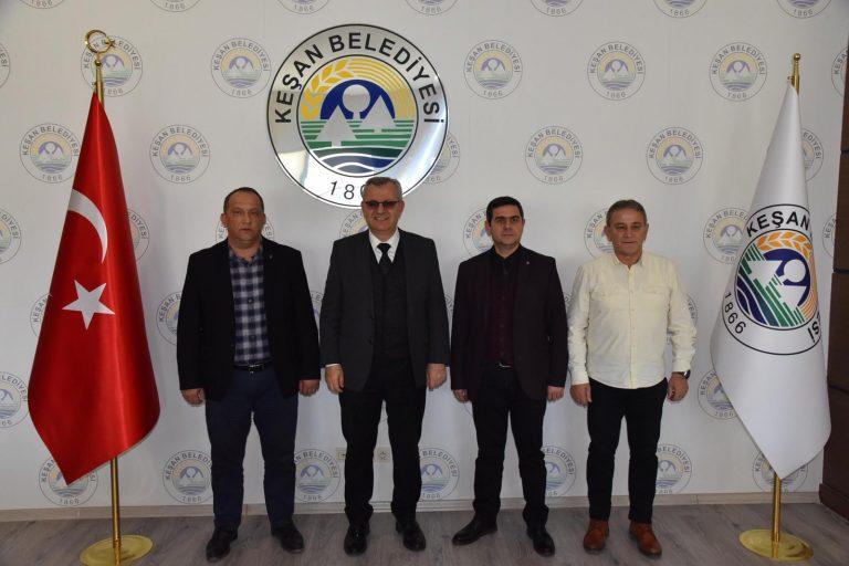 AK Parti Malkara İlçe Başkanı'ndan  Belediye Başkanı Mustafa Helvacıoğlu'na ziyaret…