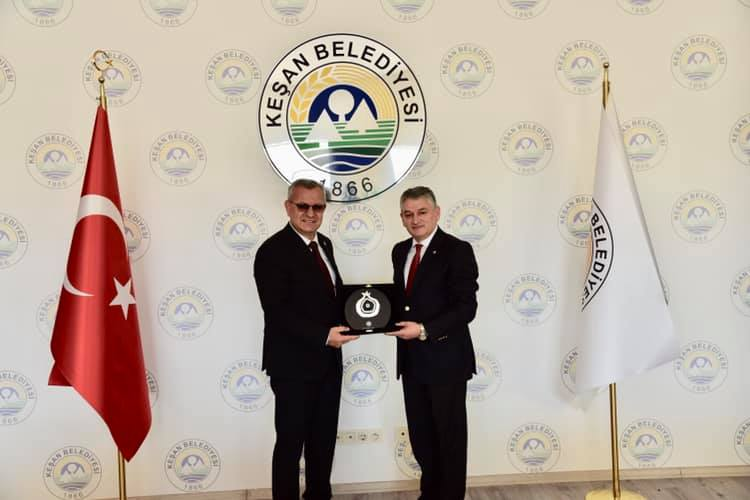 Tekirdağ TSO Başkanı Cengiz Günay'dan Başkan Mustafa Helvacıoğlu'na ziyaret