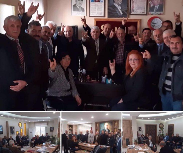 MHP İl Başkanı Zakir Tercan ve Yönetimi'nden Havsa Ziyareti
