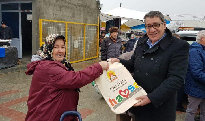Havsa Belediyesi'nden Bez çanta dağıtımı