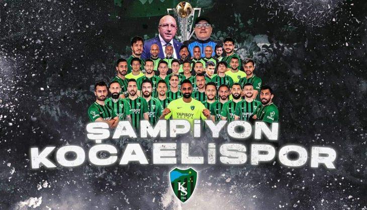 Kocaelispor, Sakaryaspor'u 4-0 yenerek 1.Lige Yükseldi
