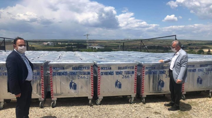 Keşan Belediyesi 500 Adet Çöp Konteyneri Aldı