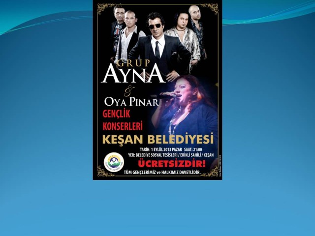 Ayna ve Oya Pınar 1 Eylül'de Erikli'de…