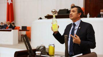 Gaytancıoğlu, meclis kürsüsünden ayçiçek yağındaki zamları anlattı
