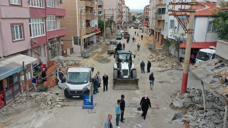 Rasim Ergene Caddesi'nde çalışmalar başladı