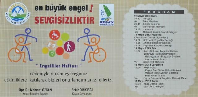 Engelliler Haftası etkinlikleri 10 Mayıs'da başlıyor…