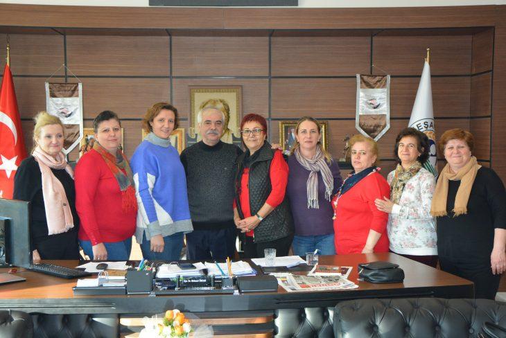 CHP Keşan Kadın Kolları Yönetimi'nden Özcan'a Ziyaret