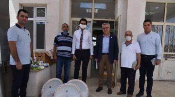 Keşan Belediyesi, Şehit Er Akın Buluş İlkokulu'nda zarar gören  musluk bataryaları ve malzemelerinin yerine yenilerini alarak teslim etti