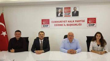 CHP Trakya Spor Kurulu'ndan Edirne İl Başkanı Fevzi Pekcanlı'ya ziyaret