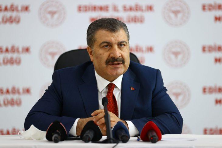 Sağlık Bakanı KocaEdirne'de Bölgesel Değerlendirme Toplantısı'nda konuştu