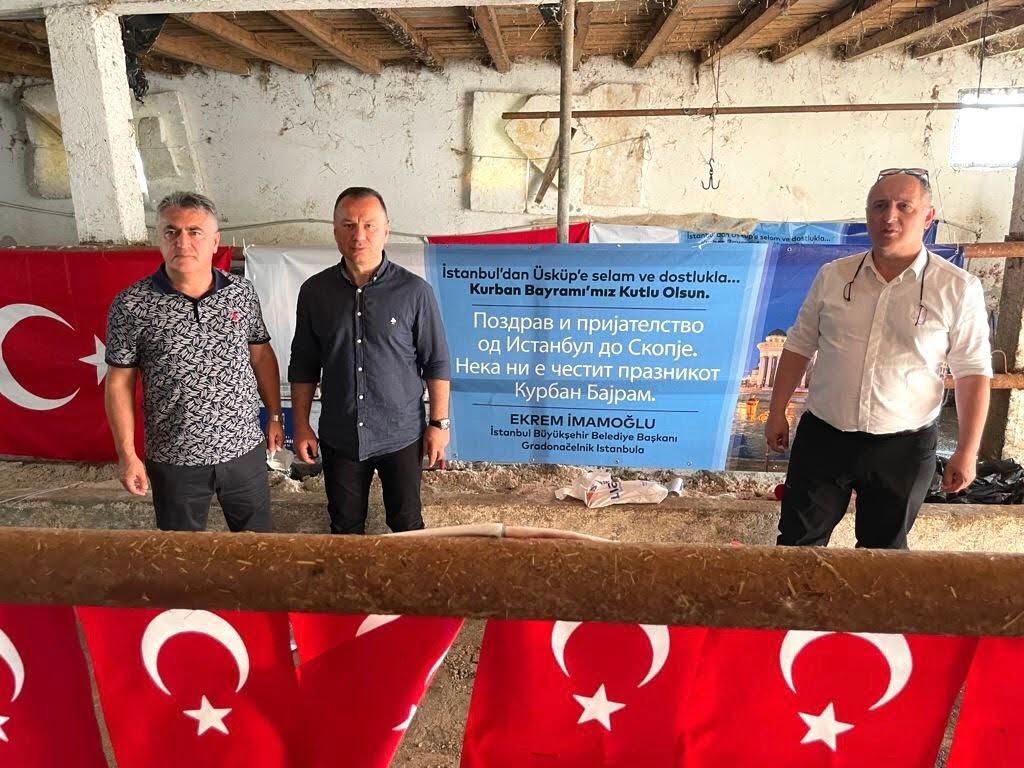 İmamoğlu, Balkanlar'da 50 büyükbaş ve 300 küçükbaş hayvanın kurban kesim organizasyonuna katıldı