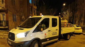 Kırklareli Belediyesi'nden Soğuk Havayla Mücadele Gece de Devam Ediyor