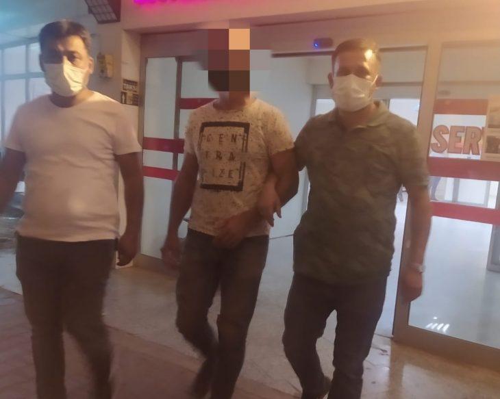 Hapis cezası olan ve aranan kişi Keşan'da yakalandı
