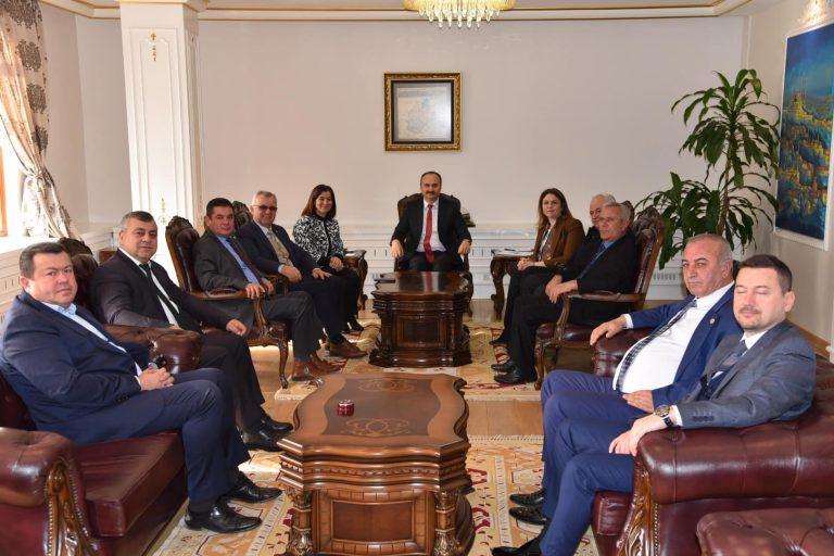 Keşan Belediye Başkanı Mustafa Helvacıoğlu'ndan Vali Ekrem Canalp'e ziyaret