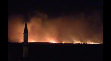 Bulgaristan-Türkiye sınırındaki yangında Türk tarafında yanan tek ağaç yok