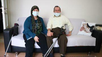 Bedensel engelli çift, yaşadıkları zorlukları 31 yıldır sevgiyle aşıyor