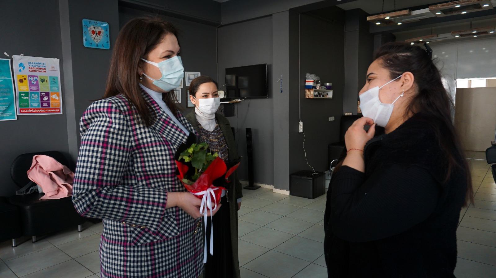 AK Parti Edirne İl Başkanı İba, kadınları işyerlerinde ziyaret etti