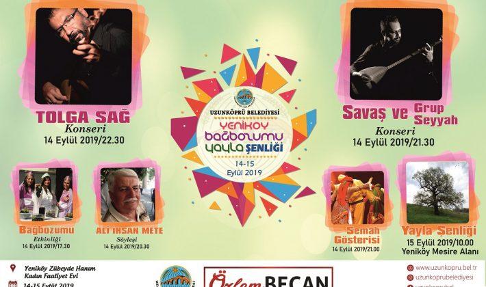 Yeniköy Bağbozumu ve Yayla Şenlikleri 14-15 Eylül'de