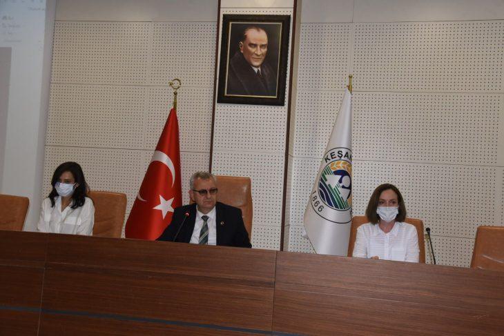 Keşan Belediyesi Haziran Ayı Olağan Meclis Toplantısı yapıldı