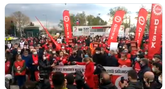 DİSK Genel Başkanı Arzu Çerkezoğlu 2021 mesajını DİSK üyeleri ile buluştuğu toplantıda verdi