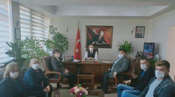 CHP heyetinden Kaymakam Cemalettin Yılmaz'a ziyaret