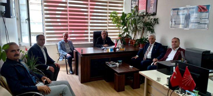 İl Genel Meclis Başkanı Mehmet Geçmiş'den CHP Keşan İlçe Başkanı Recep Pekcan'a ziyaret