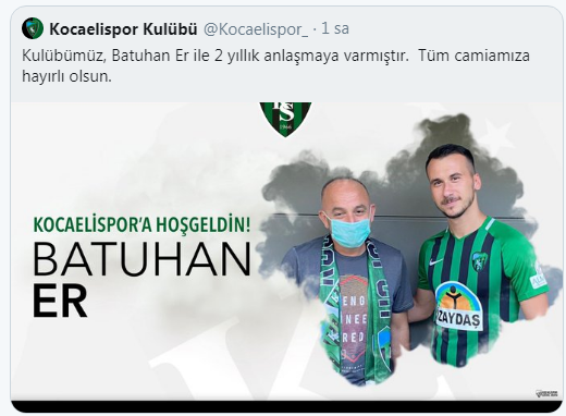 Batuhan Er Kocaelispor'da