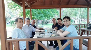 Mustafa Dinç, 30 yıl sonra Keşan'daki dostları ile bir araya geldi