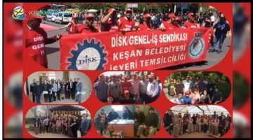 DİSK Genel İş Keşan İşyeri Temsilciliği'nden 1 Mayıs Klibi (Videolu)