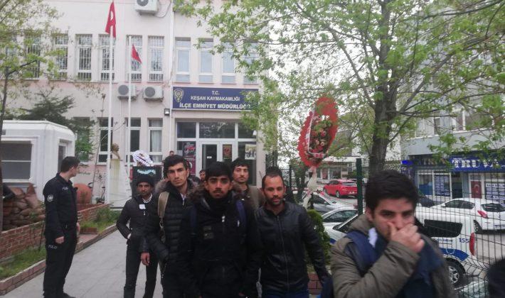 Otogarda 13 Kaçak Göçmen Yakalandı