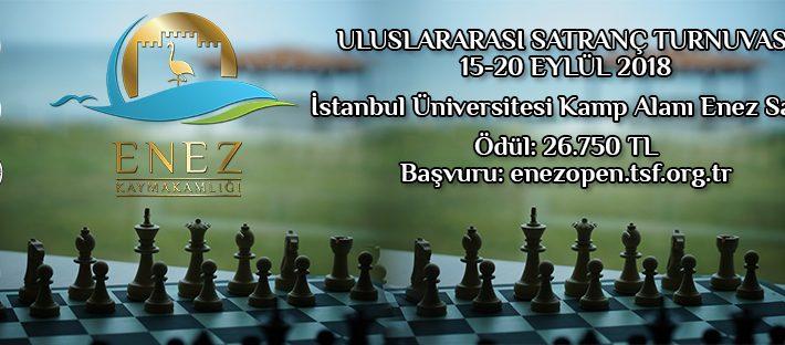 Enez Kaymakamlığı Uluslararası Açık Satranç Turnuvasının İkincisi Düzenleniyor!!