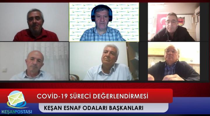 Keşan esnaf odaları başkanları Keşan Postası'nda Erdoğan Demir'in canlı yayın konuğu oldu