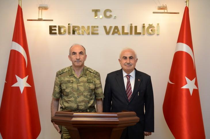Korgeneral Erdoğan'dan Vali Şahin'e Ziyaret