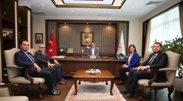 Fatma Aksal Gençlik ve Spor Bakan Yardımcısı Sinan Aksu ile görüştü