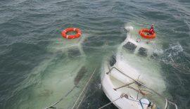 Enez'de 4 Tekne Limanda Battı…