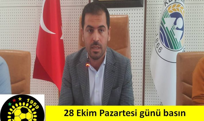 Keşanspor Başkanı Nehir Gergin 28 Ekim'de basın toplantısı düzenleyecek