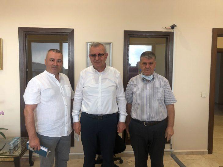 Ragıp Lapçin'den Keşan Belediye Başkanı Mustafa Helvacıoğlu'na ziyaret
