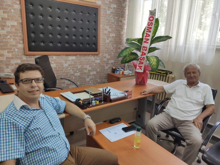 Osman Başak'tan Mehmet Akif Ersoy Lisesi'ne ziyaret