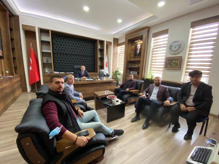 AK Parti Keşan İlçe Yönetiminden Keşan SYDV Müdürü İbrahim Çörek'e ziyaret