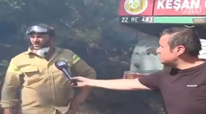 Keşanlı Ormancılar Muğla'daki yangında görev yapıyor