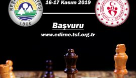 Keşan Belediyesi'nin Kurtuluş Satranç Turnuvası başlıyor